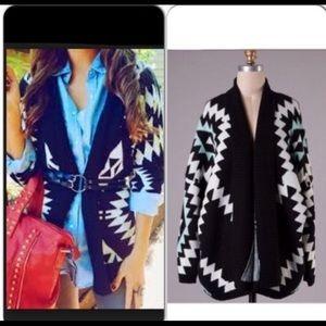 Oversized Aztec patterned sweater size m/L
